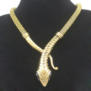 Egyptian Cleopatra Snake Serpent Mesh Chain